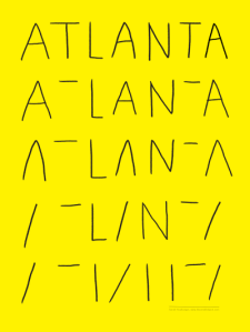 Atlanta Deconstructed Lettering print by Atlanta based illustrator Sarah Neuburger