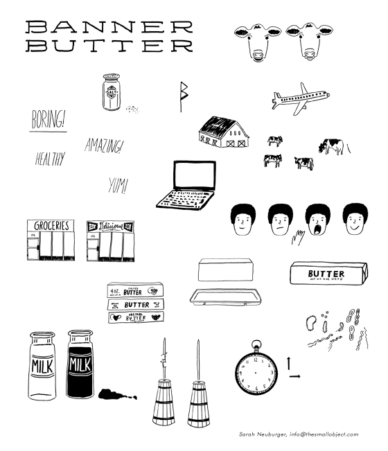 Drawings for Banner Butter Video by Atlanta based illustrator Sarah Neuburger