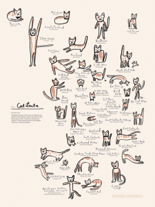 Cat-Lanta print by Atlanta based illustrator Sarah Neuburger