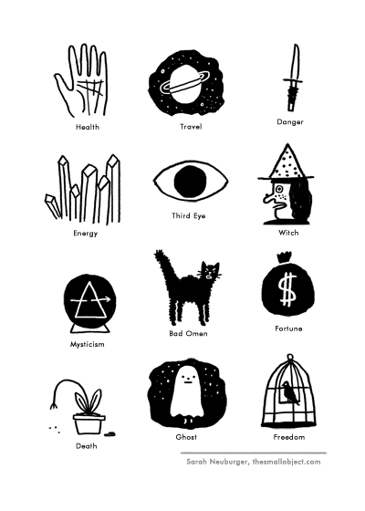 Fortune Magic Symbols by Atlanta based illustrator Sarah Neuburger