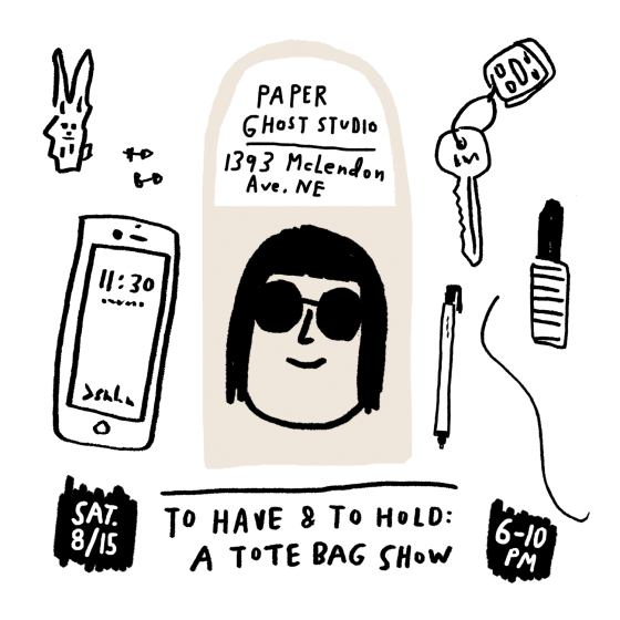 To Have and To Hold Art Show Flyer Postcard by Atlanta based illustrator Sarah Neuburger