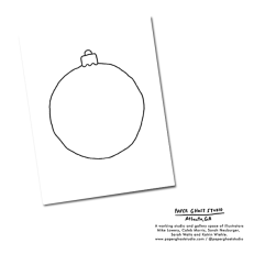 Fill-in-Blank Ornament Holiday Card Design print by Atlanta based illustrator Sarah Neuburger