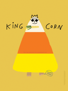 King Candy Corn halloween print by Atlanta based illustrator Sarah Neuburger