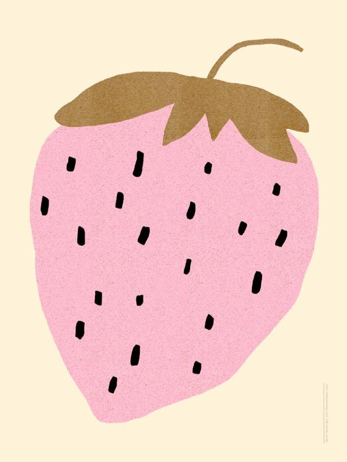 strawberry-print-fruit-berry-poster-modern-sarah-neuburger-the-small-object