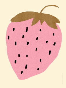 Sarah Neuburger Atlanta Illustrator Strawberry Fruit Summer South Art Print Poster Paper Ghost Studio