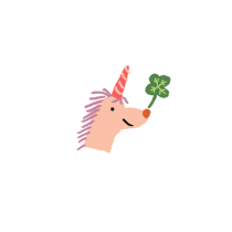 Good Luck Unicorn by Atlanta based illustrator Sarah Neuburger