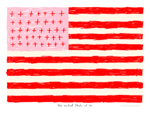 The United State of Us print by Atlanta based illustrator Sarah Neuburger