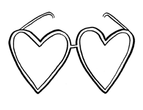 Heart Glasses Valentine's Day Card by Atlanta based illustrator Sarah Neuburger