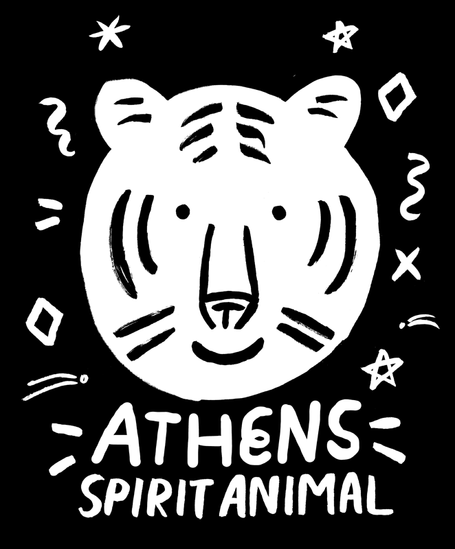 Sarah Neuburger Atlanta Illustrator Drawing Athens Spirit Animal Treehouse Kid Craft Branding T Shirt Design