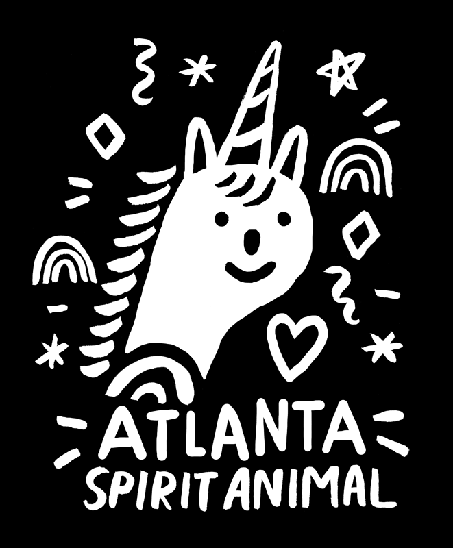 Sarah Neuburger Atlanta Illustrator Drawing Unicorn Spirit Animal Treehouse Kid Craft Branding T Shirt Design