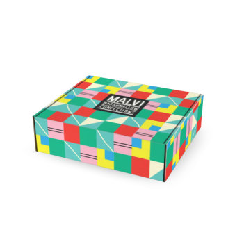 Sarah Neuburger Atlanta Illustration Identity Branding Logo Malvi Mallow Colorful Fun Package Design Box Neon
