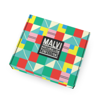 Sarah Neuburger Atlanta Illustration Identity Branding Logo Malvi Mallow Colorful Fun Package Design Box