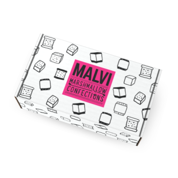Sarah Neuburger Atlanta Illustration Identity Branding Logo Malvi Mallow Colorful Fun Package Design Box Drawings