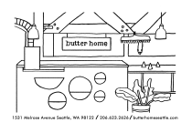 Sarah Neuburger Atlanta Illustrator Butter Home Store Promo Postcard Custom Drawing Seattle