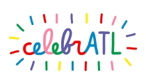 Sarah Neuburger Atlanta Illustrator Logo Branding CelebrATL cursive script hand lettering colorful fun