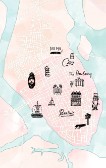 Sarah Neuburger Atlanta Illustration Charleston Map Icons Inside Out