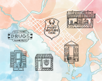 Sarah Neuburger Atlanta Illustration Charleston Map Icons Inside Out Old Village