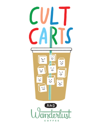 Sarah Neuburger Atlanta Illustrator Branding Cult Carts Wanderlust Coffee Logo Drawing