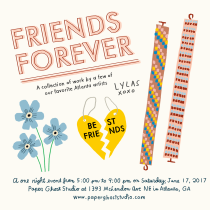 Sarah Neuburger Atlanta Illustrator Drawing Friends Forever Friendship Bracelet Best Friend Necklace Forget Me Not Paper Ghost Studio