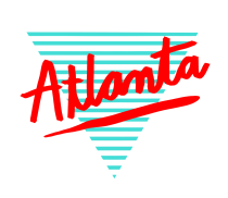 Sarah Neuburger Atlanta 80s Lettering Hand Drawing Script Type ATL Diamond Pyramid Retro