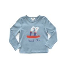 Oeuf FW2017 x Sarah Neuburger Blue Friendship Tee