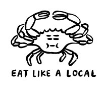 Sarah Neuburger Atlanta Illustrator Painted Crab Drawing Logo Branding T Shirt Design Coast Beach