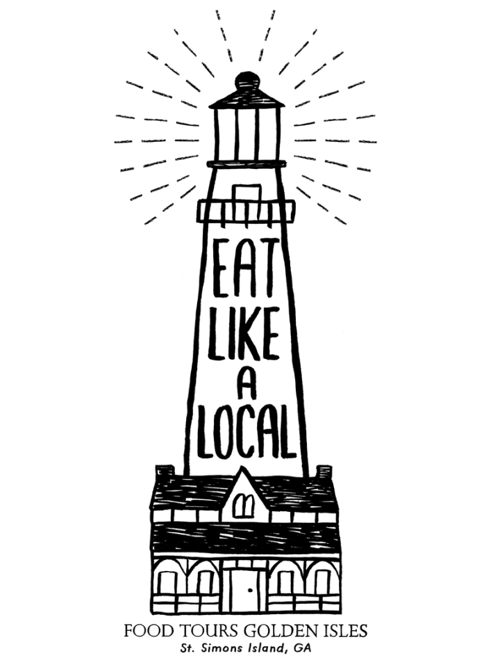 sarah-neuburger-atlanta-illustrator-branding-food-tours-golden-isles-lighthouse-eat-like-a-local