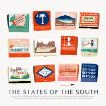Sarah Neuburger Atlanta Illustrator Drawings Matchbook The South Southern States Georgia