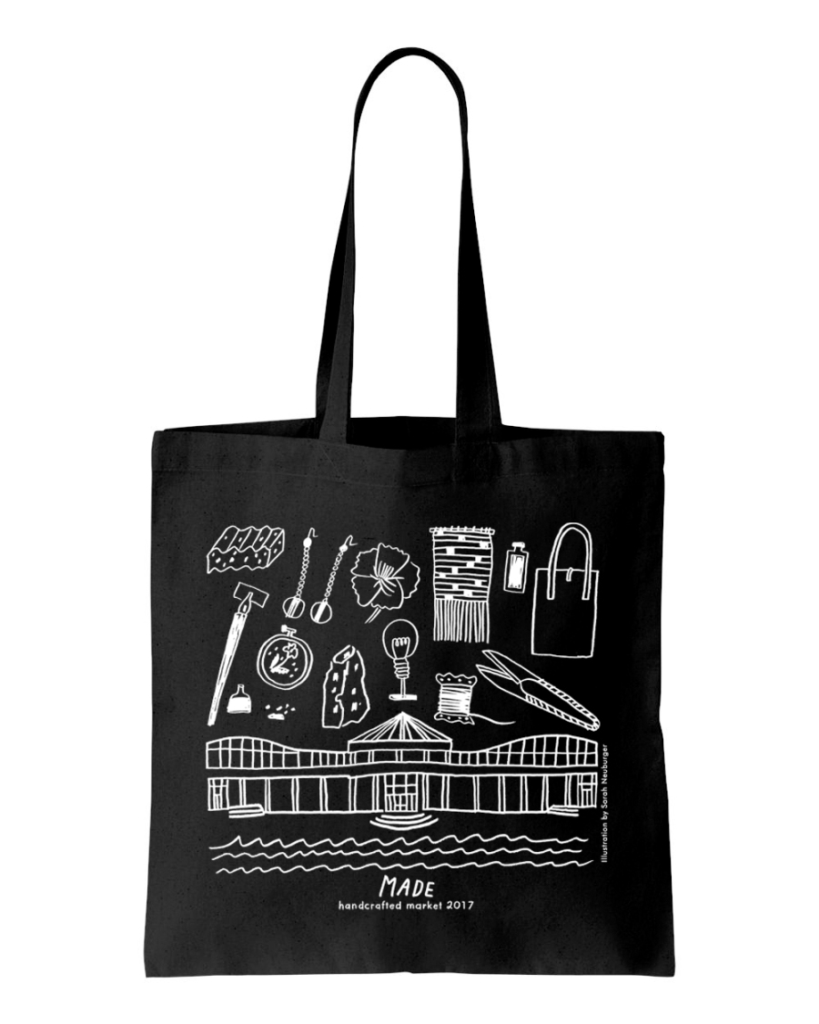 made tote bag black